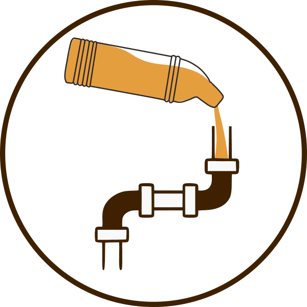 химический способ устранения засора